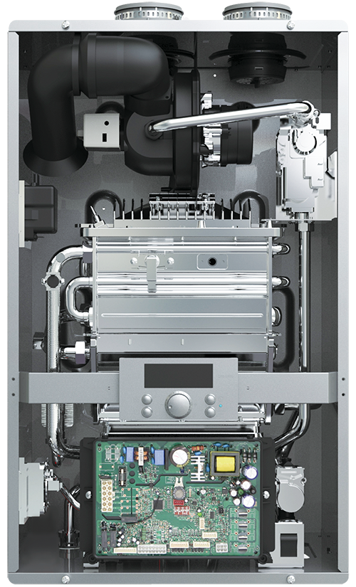 Interior of the Hydra Smart RTC Tankless Water Heater