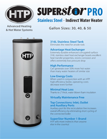 Superstor Pro Indirect Fired Water Heater