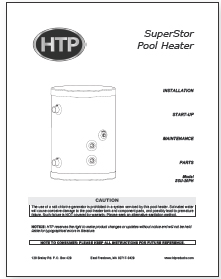 Superstor Pro Stainless Steel Pool Heater Literature Htp